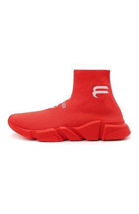 Мужские текстильные кроссовки speed BALENCIAGA красного цвета, арт. 645734/W2DBU   Фото 3 (Материал внешний: Текстиль; Стили: Гранж; Материал внутренний: Текстиль; Подошва: Массивная)