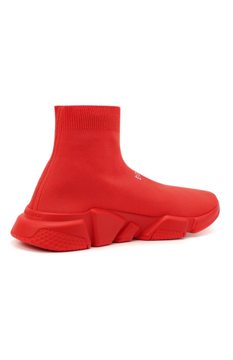Мужские текстильные кроссовки speed BALENCIAGA красного цвета, арт. 645734/W2DBU   Фото 4 (Материал внешний: Текстиль; Стили: Гранж; Материал внутренний: Текстиль; Подошва: Массивная)