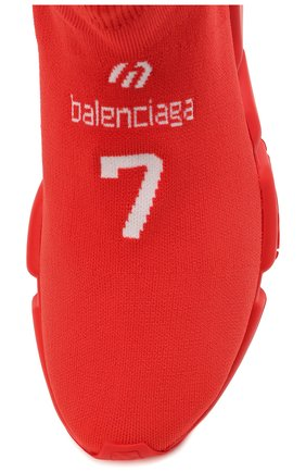 Мужские текстильные кроссовки speed BALENCIAGA красного цвета, арт. 645734/W2DBU   Фото 5 (Материал внешний: Текстиль; Стили: Гранж; Материал внутренний: Текстиль; Подошва: Массивная)