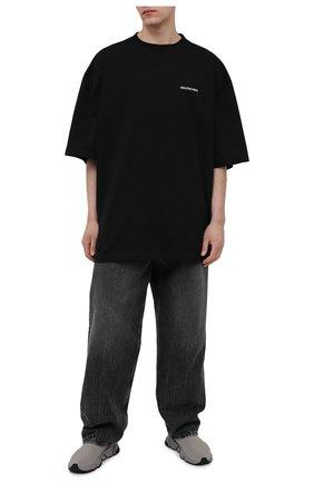 Мужские текстильные кроссовки speed BALENCIAGA серого цвета, арт. 645334/W2DB7 | Фото 2