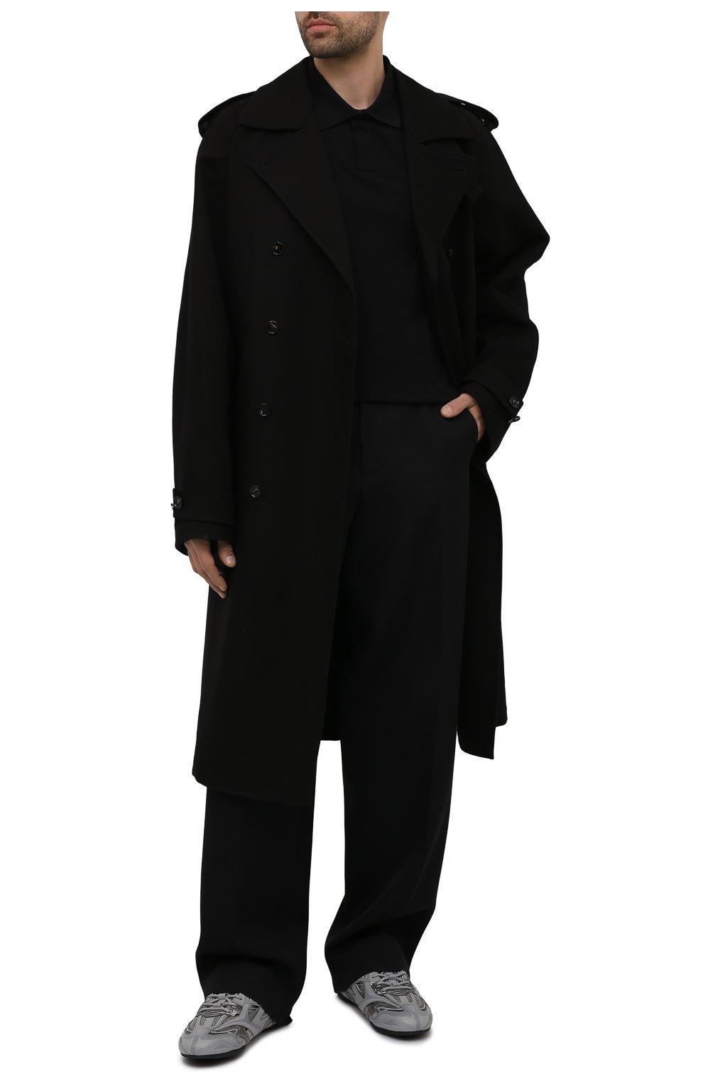 Мужские комбинированные кроссовки drive BALENCIAGA серого цвета, арт. 635498/W3AH1   Фото 2 (Материал внешний: Текстиль; Стили: Гранж; Материал внутренний: Текстиль; Подошва: Плоская)