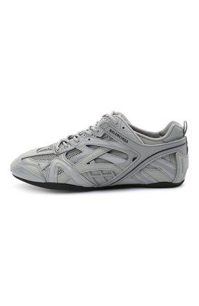 Мужские комбинированные кроссовки drive BALENCIAGA серого цвета, арт. 635498/W3AH1   Фото 3 (Материал внешний: Текстиль; Стили: Гранж; Материал внутренний: Текстиль; Подошва: Плоская)