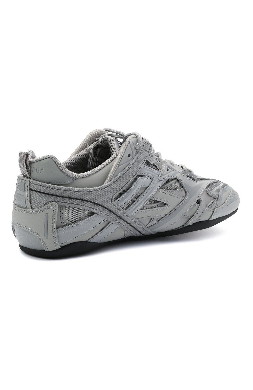 Мужские комбинированные кроссовки drive BALENCIAGA серого цвета, арт. 635498/W3AH1   Фото 4 (Материал внешний: Текстиль; Стили: Гранж; Материал внутренний: Текстиль; Подошва: Плоская)