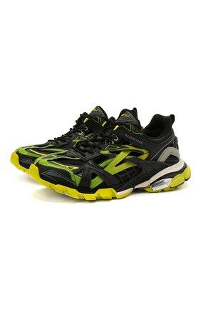 Мужские комбинированные кроссовки track.2 BALENCIAGA светло-зеленого цвета, арт. 568614/W2GN3 | Фото 1 (Материал внутренний: Текстиль; Материал внешний: Текстиль; Подошва: Массивная; Стили: Гранж)