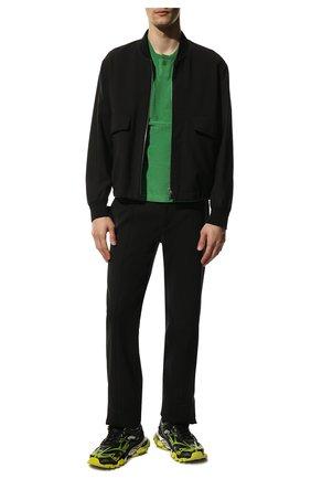 Мужские комбинированные кроссовки track.2 BALENCIAGA светло-зеленого цвета, арт. 568614/W2GN3 | Фото 2 (Материал внутренний: Текстиль; Материал внешний: Текстиль; Подошва: Массивная; Стили: Гранж)