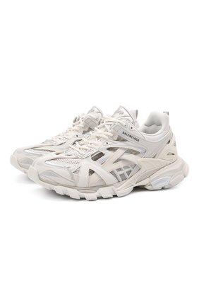 Мужские комбинированные кроссовки track 2.0 BALENCIAGA белого цвета, арт. 568614/W2GN1 | Фото 1