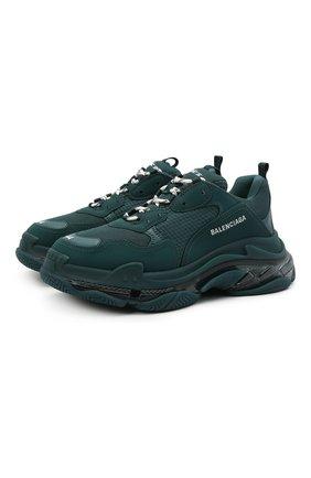 Мужские кроссовки triple s BALENCIAGA темно-зеленого цвета, арт. 541624/W2GA1 | Фото 1