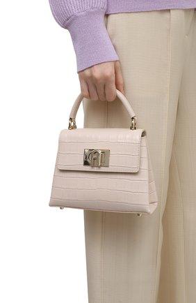Женская сумка furla 1927 mini FURLA светло-бежевого цвета, арт. WB00109/KO0000   Фото 2