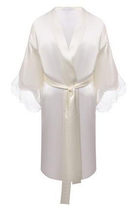 Женский шелковый халат LISE CHARMEL белого цвета, арт. ALS2062 | Фото 1