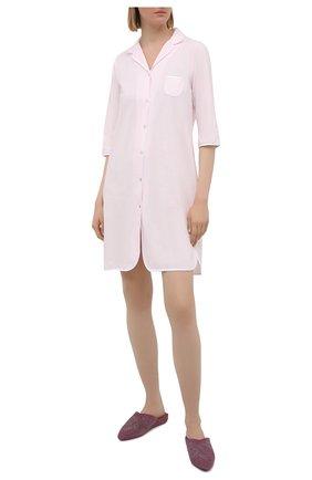 Женская хлопковая сорочка LE CHAT розового цвета, арт. ESSENTIELE05A | Фото 2