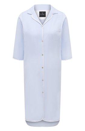 Женская хлопковая сорочка LE CHAT светло-голубого цвета, арт. ESSENTIELE05A | Фото 1