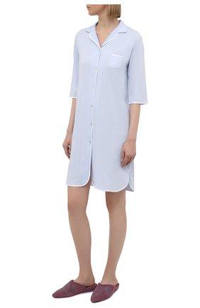 Женская хлопковая сорочка LE CHAT светло-голубого цвета, арт. ESSENTIELE05A | Фото 2