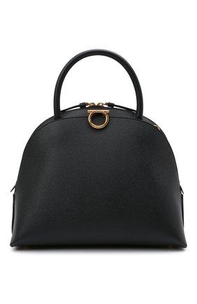 Женский сумка-тоут gancini SALVATORE FERRAGAMO черного цвета, арт. Z-0741560   Фото 1