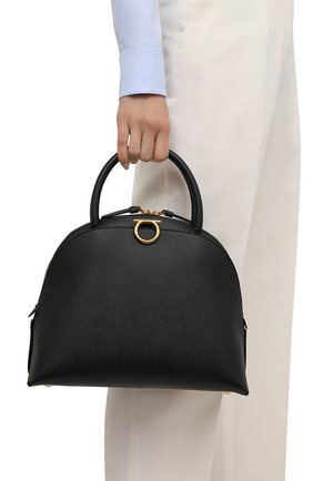 Женский сумка-тоут gancini SALVATORE FERRAGAMO черного цвета, арт. Z-0741560   Фото 2