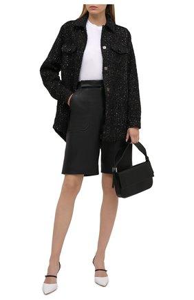 Женская хлопковая куртка SEVEN LAB черного цвета, арт. JSP20 tw 5 NERO | Фото 2