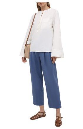 Женские кожаные сандалии TOD'S коричневого цвета, арт. XXW0FW0EH60D90 | Фото 2