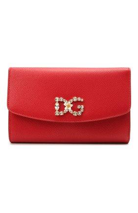 Женские кошелек на цепочке DOLCE & GABBANA красного цвета, арт. BI1275/AU771 | Фото 1