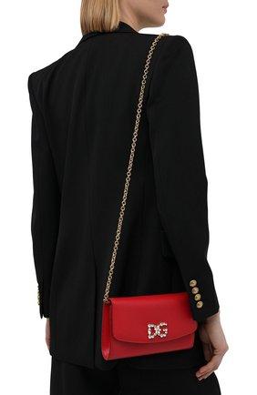Женские кошелек на цепочке DOLCE & GABBANA красного цвета, арт. BI1275/AU771 | Фото 2