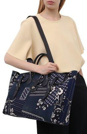 Женская сумка ricky 40 RALPH LAUREN темно-синего цвета, арт. 435841229 | Фото 2 (Размер: large; Сумки-технические: Сумки top-handle, Сумки через плечо; Материал: Текстиль)