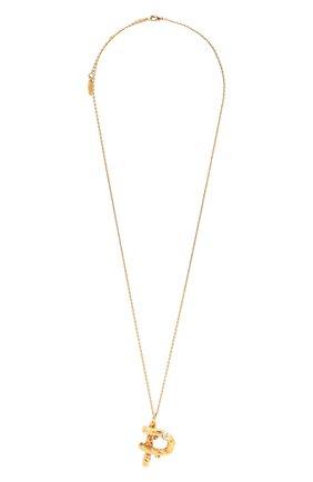 Женская кулон на цепочке alphabet p CHLOÉ золотого цвета, арт. CHC21UF02PCH5 | Фото 1 (Материал: Металл)