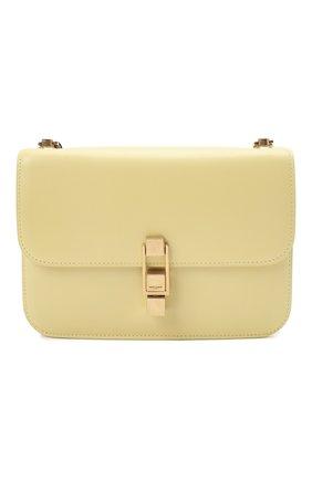 Женская сумка carre SAINT LAURENT желтого цвета, арт. 633214/1YF0W   Фото 1