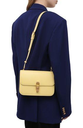 Женская сумка carre SAINT LAURENT желтого цвета, арт. 633214/1YF0W   Фото 2