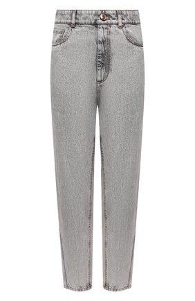 Женские джинсы BRUNELLO CUCINELLI серого цвета, арт. MP095P5654   Фото 1