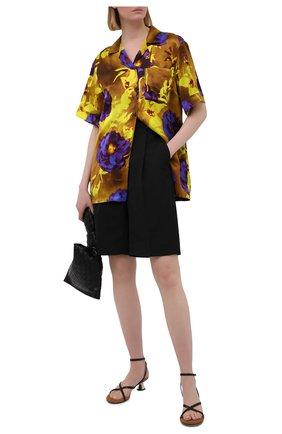 Женская рубашка из вискозы DRIES VAN NOTEN разноцветного цвета, арт. 211-10784-2089   Фото 2