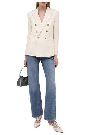 Женские кожаные мюли rockstud VALENTINO светло-бежевого цвета, арт. VW0S0V23/YPX | Фото 2