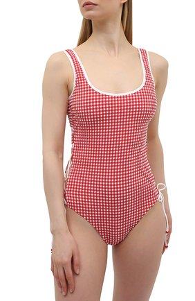 Женский слитный купальник LA PERLA красного цвета, арт. 004228B | Фото 2