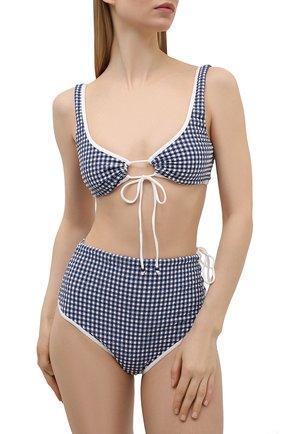 Женский бра-топ LA PERLA синего цвета, арт. 004262B   Фото 2 (Женское Кросс-КТ: Раздельные купальники; Материал внешний: Синтетический материал)