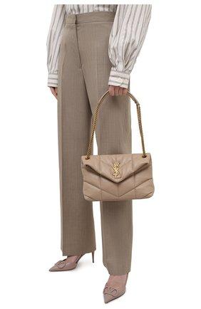Женская сумка puffer small SAINT LAURENT бежевого цвета, арт. 577476/1EL07   Фото 2