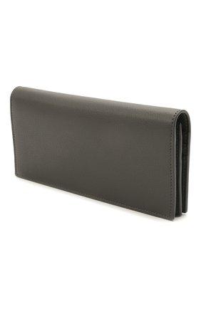 Женские кожаный кошелек SAINT LAURENT темно-серого цвета, арт. 635542/15B0W | Фото 2