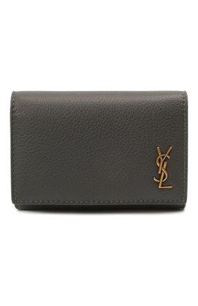 Женская кожаный футляр для ключей classic SAINT LAURENT темно-серого цвета, арт. 652406/15B0W | Фото 1
