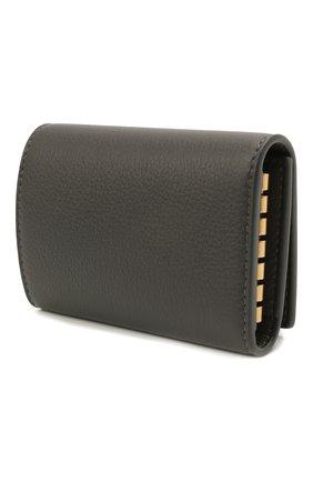 Женская кожаный футляр для ключей classic SAINT LAURENT темно-серого цвета, арт. 652406/15B0W | Фото 2