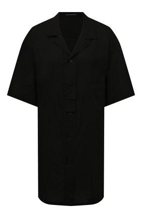 Женская рубашка YOHJI YAMAMOTO черного цвета, арт. ND-B01-203   Фото 1