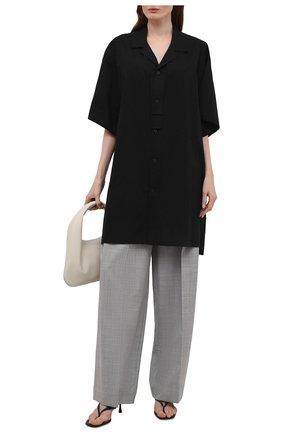 Женская рубашка YOHJI YAMAMOTO черного цвета, арт. ND-B01-203   Фото 2