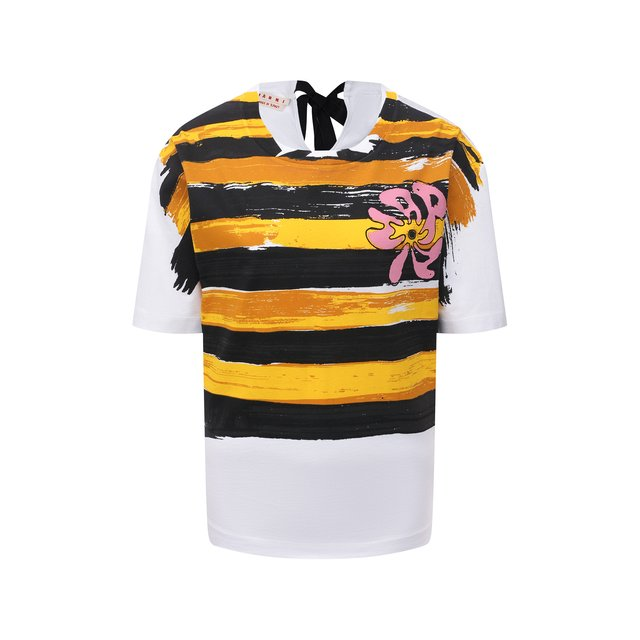 Хлопковая футболка Marni