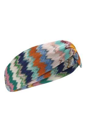 Женская повязка на голову MISSONI разноцветного цвета, арт. MMS00003/BR00E8 | Фото 1
