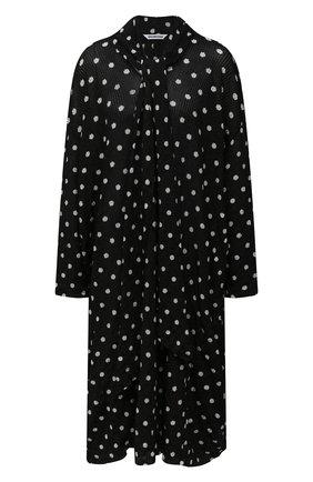 Женское платье из вискозы BALENCIAGA черно-белого цвета, арт. 657546/T5158 | Фото 1