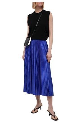 Женская плиссированная юбка BALENCIAGA синего цвета, арт. 659068/TJV20   Фото 2