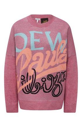 Женский льняной пуловер loewe x paula's ibiza LOEWE розового цвета, арт. S616Y14K02   Фото 1