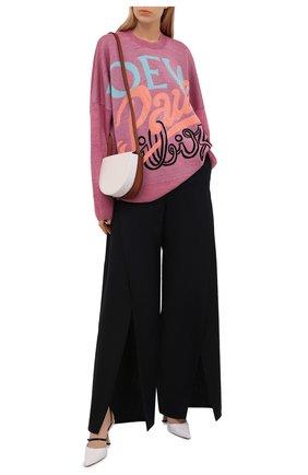 Женский льняной пуловер loewe x paula's ibiza LOEWE розового цвета, арт. S616Y14K02   Фото 2