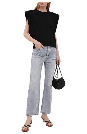 Женские джинсы KSUBI светло-голубого цвета, арт. 5000005822   Фото 2