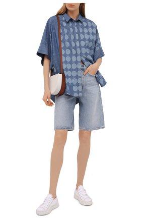 Женская хлопковая рубашка loewe x paula's ibiza LOEWE голубого цвета, арт. S616Y06X07 | Фото 2