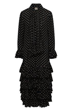 Женское шелковое платье KHAITE черно-белого цвета, арт. 5174323/D0LLY | Фото 1
