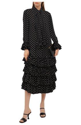 Женское шелковое платье KHAITE черно-белого цвета, арт. 5174323/D0LLY | Фото 2