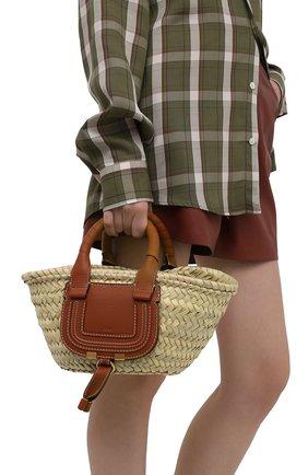 Женский сумка marcie small CHLOÉ коричневого цвета, арт. CHC21US832C97   Фото 2