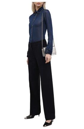 Женские шерстяные брюки WINDSOR темно-синего цвета, арт. 52 DHE503 10011410 | Фото 2