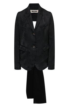 Женский жакет из льна и вискозы UMA WANG черного цвета, арт. S1 W UW6006 | Фото 1